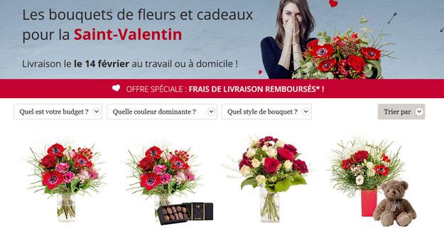 Offrez 1 bouquet de fleur pas cher pour la st valentin for Bouquet de fleurs pas cher livraison gratuite