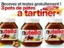 3 Pots de Nutella Gratuit à Gagner