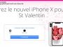 Gagnez un iPhone X pour la St Valentin