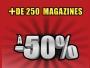 -50% sur plus de 250 Magazines