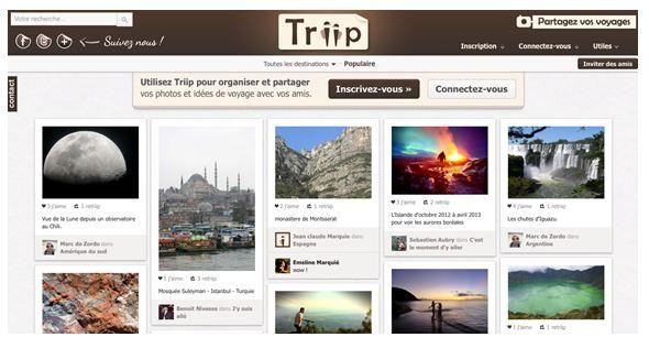 Triip.fr, le réseau social des voyageurs